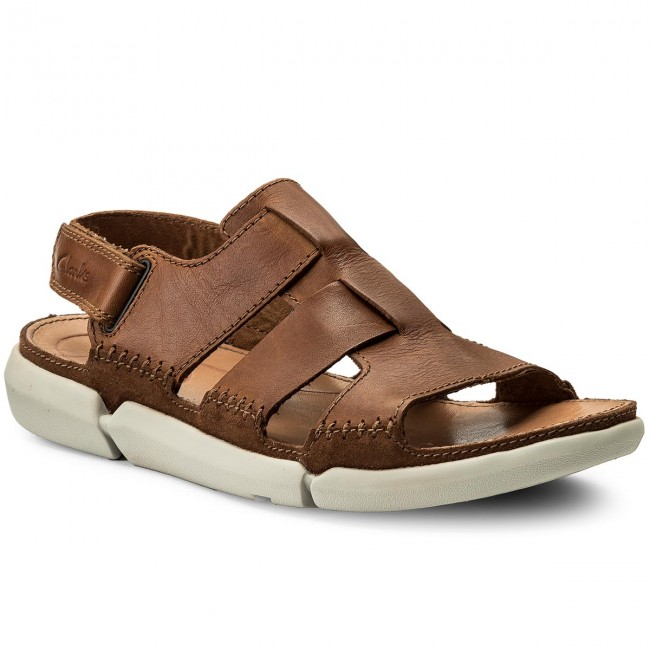 Sandalen CLARKS-Trisand Bay 261240457 Tan Leather