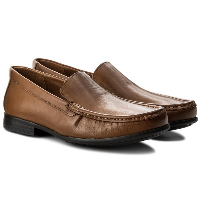 Mokassins CLARKS-Claude Tan Plain 261243167 Tan CLARKS-Claude Leather 2687b2