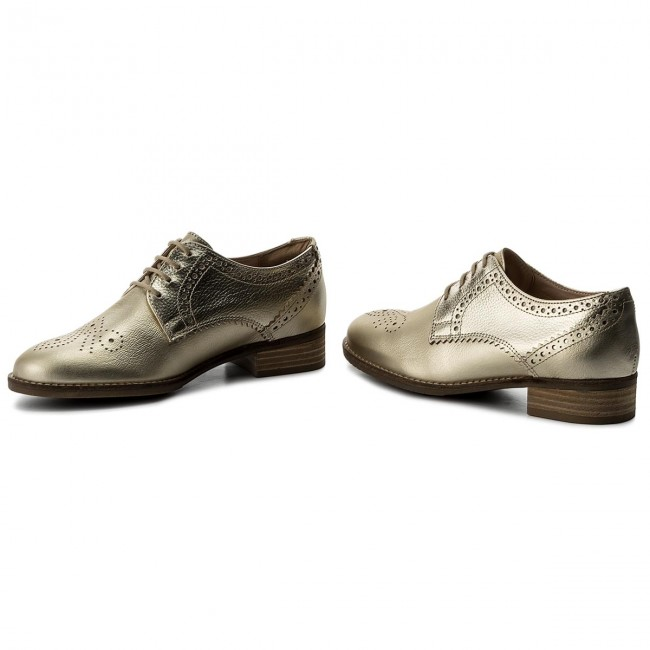 Oxfords CLARKS                                                      Netley Rose 261309384 Champagne Combi 04713a