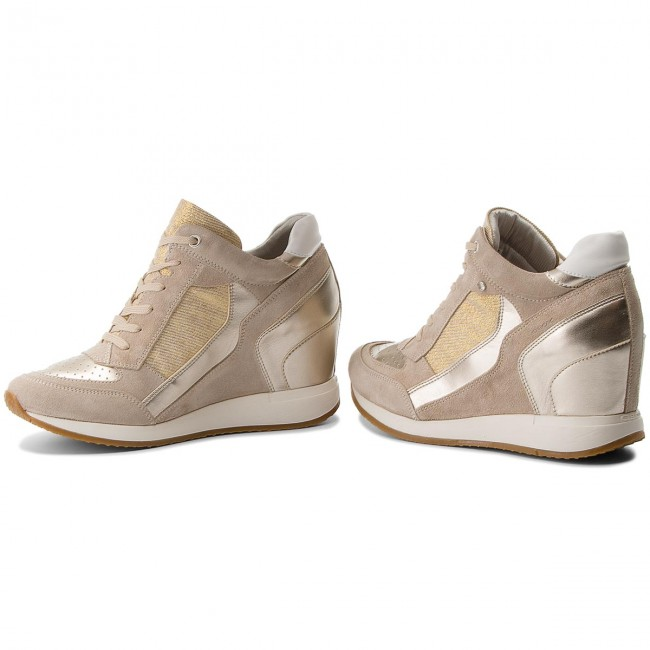 Sneakers GEOX                                                      D Nydame A D540QA 022AS CH62L Lt Taupe/Lt Gold 311bab
