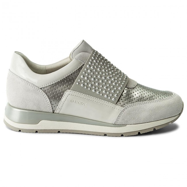 Sneakers GEOX                                                      D Shahira A D82N1A 022NF C0626 Off Weiß/Silver 133333