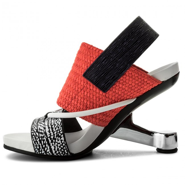 Sandalen UNITED NUDE Eamz Tribal 1028441646108 Black And White Mix/Neon Red/Navy