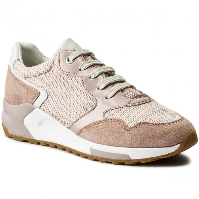 Sneakers GEOX-D Phyteam B D824DB 06K22 C7X8A Salmon/Antique Rose Werbe Schuhe