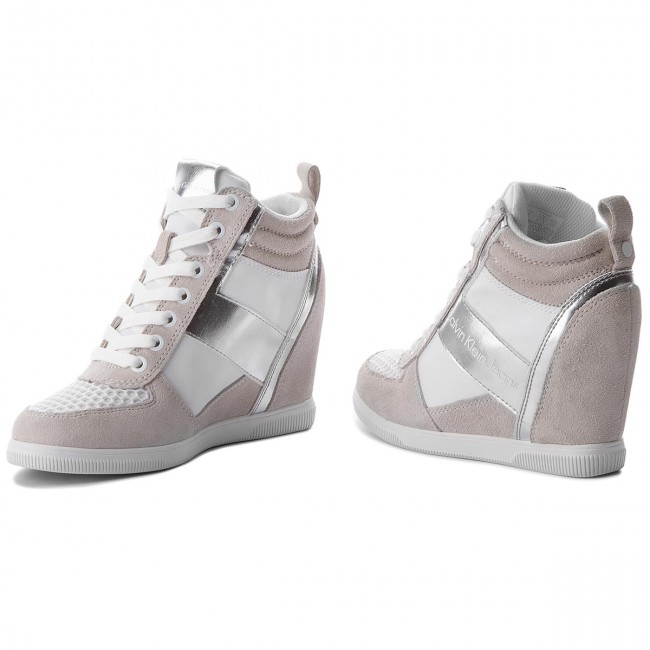 Sneakers Calvin Klein Jeans - Beth R0648 White/silver hKrZEdOR