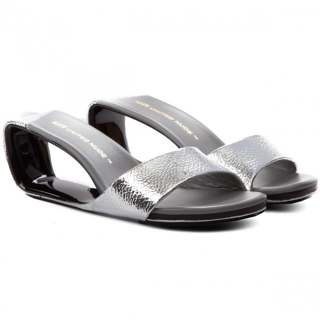Pantoletten UNITED NUDE       NUDE                                               Mobius Mid 10003141113 Silver b257fb