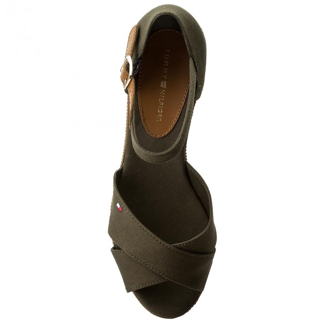 Espadrilles TOMMY HILFIGER-Iconic Elba Sandal Sandal Sandal Basic FW0FW02648 Olive Night 010 Werbe Schuhe 95854a