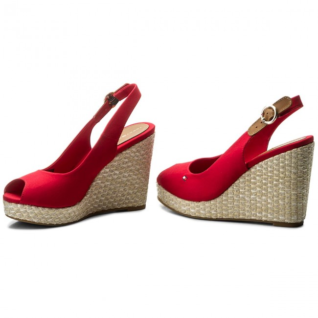 Espadrilles TOMMY HILFIGER-Iconic Elena Basic Sling Back FW0FW02787 Tango  Tango FW0FW02787 Red 611 Werbe Schuhe fb4ee0