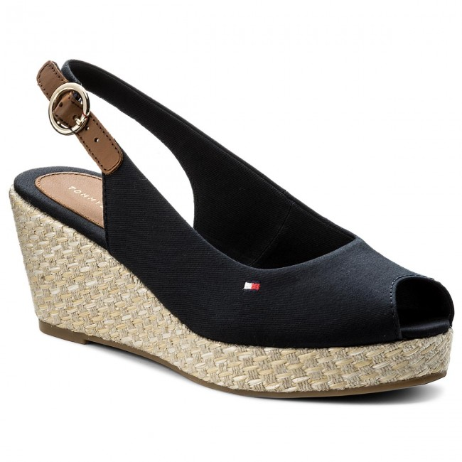 Espadrilles  TOMMY HILFIGER    Espadrilles                                                 Iconic Elba Basic Sling Back FW0FW02788 Midnight 403 355f87