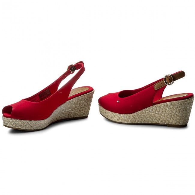 Espadrilles TOMMY HILFIGER-Iconic Elba Basic Sling 611 Back FW0FW02788 Tango Red 611 Sling Werbe Schuhe 753928