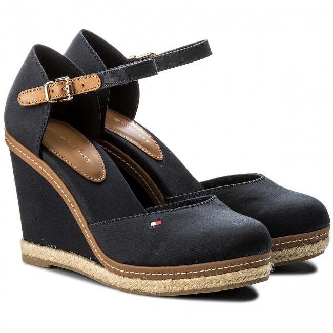 Espadrilles Midnight TOMMY HILFIGER-Iconic Basic Closed Toe Wedge FW0FW02791 Midnight Espadrilles 403 Werbe Schuhe 1fa85c