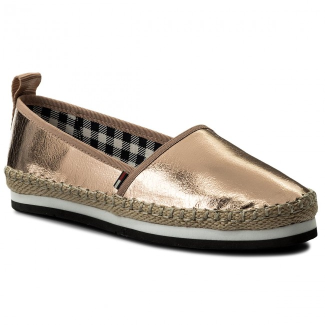 Espadrilles TOMMY JEANS                                                    Sporty Metalic Slip On EN0EN00203 Rose Gold 638