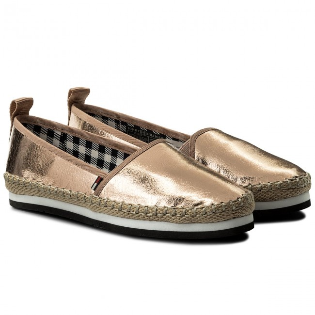 Espadrilles TOMMY JEANS  Sporty Metalic Gold Slip On EN0EN00203 Rose Gold Metalic 638 d20a3c