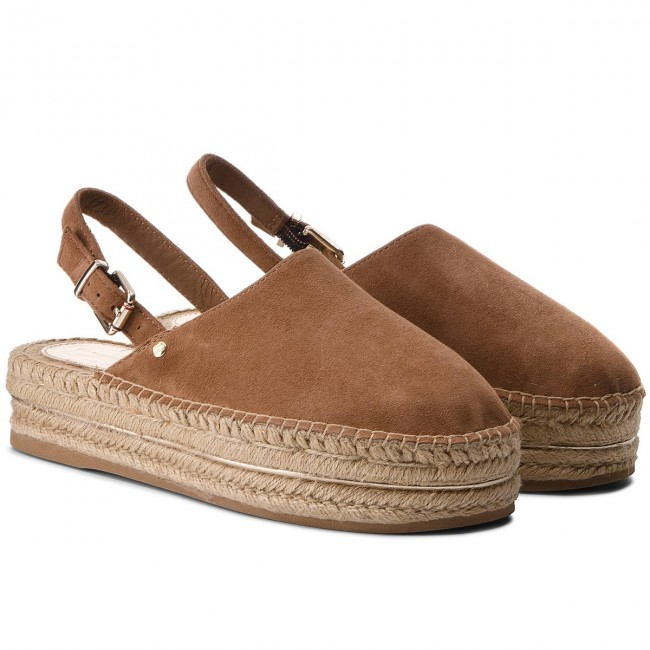 Espadrilles TOMMY HILFIGER Elevated Slip Flatform Slip Elevated On FW0FW02643 Summer Cognac 929 2da176