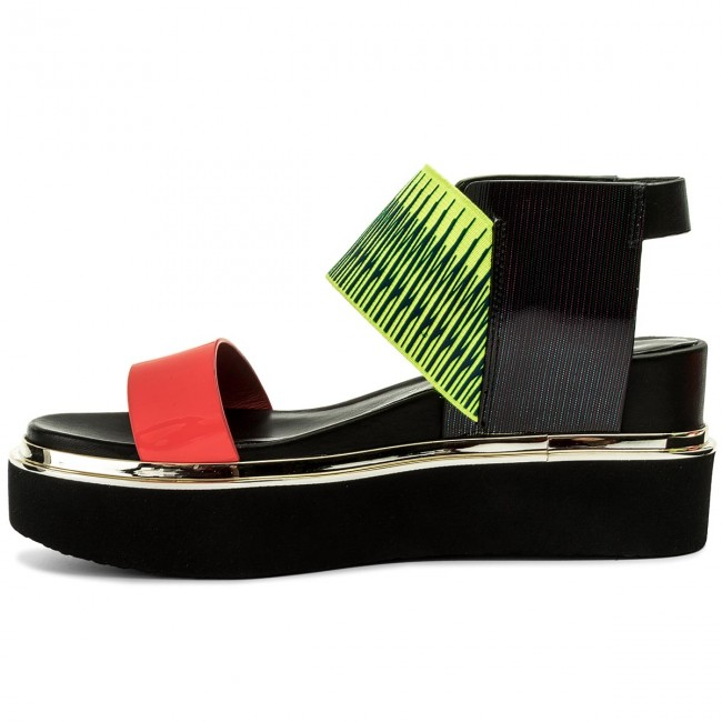 Sandalen UNITED NUDE - Rico Sandal 1030455003108 Neon Red/Neon lime/Disco