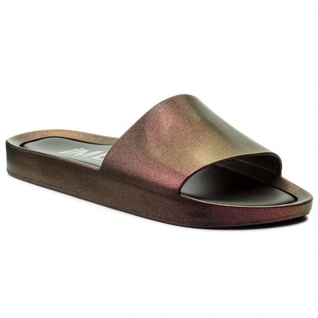 Pantoletten MELISSA Beach Slide Shine Ad 32291 Iridescent Red