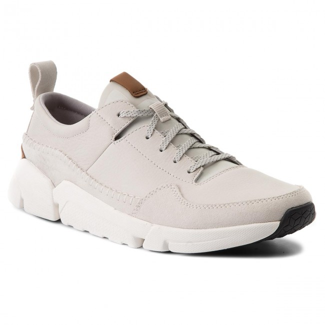 Halbschuhe CLARKS-Triactive Run 261322777 White Leather