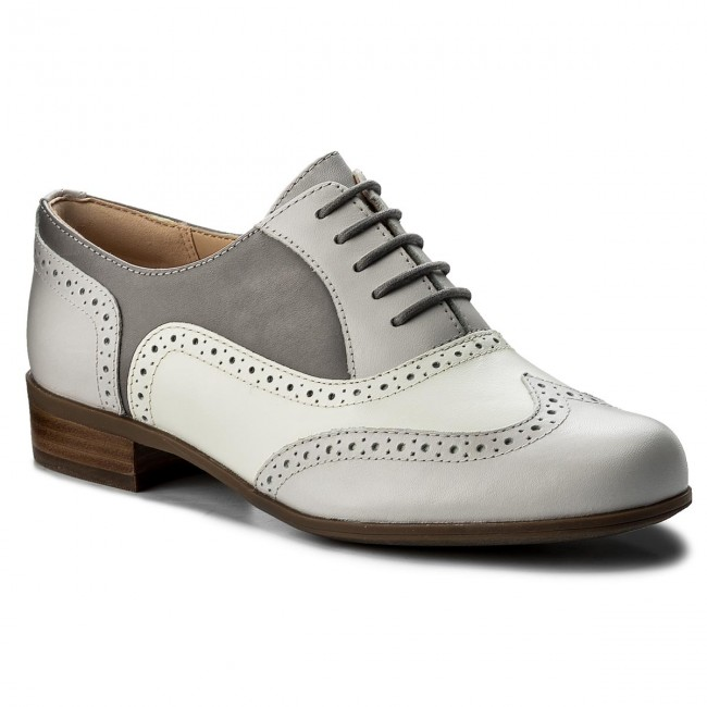 Oxfords CLARKS                                                    Hamble Oak 261324644 Grey Combi Leather
