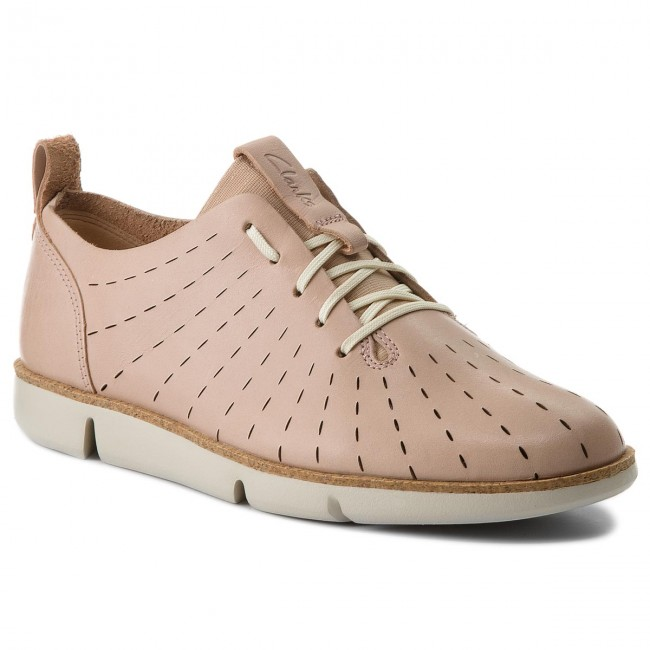 Halbschuhe CLARKS                                                    Tri Etch 261325274 Nude Pink Leather