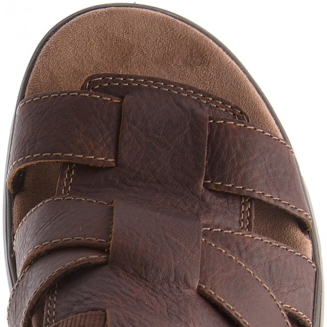 Sandalen  CLARKS-Un Trek Cove 261326207  Sandalen Dark Tan Leather 139a5b