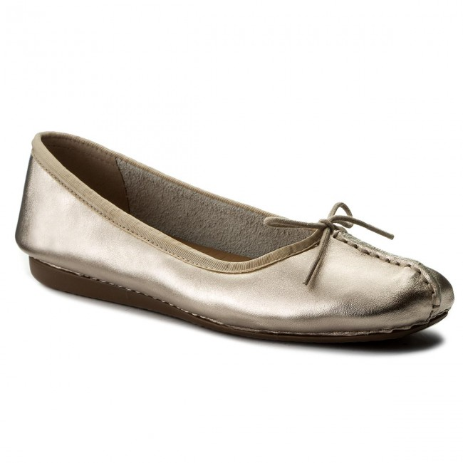 Ballerinas CLARKS                                                    Freckle Ice 261326624 Gold Metallic