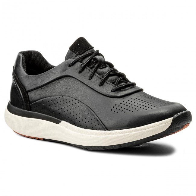Sneakers CLARKS Un Cruise Lace 261326844 Black Leather 035