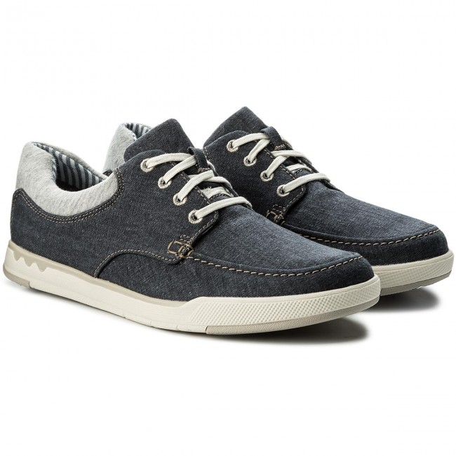 Halbschuhe CLARKS-Step Isle Lace Navy 261327647  Navy Lace Canvas dbee6b
