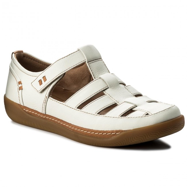 Sandalen CLARKS Un Haven Cove 261332824 White Leather