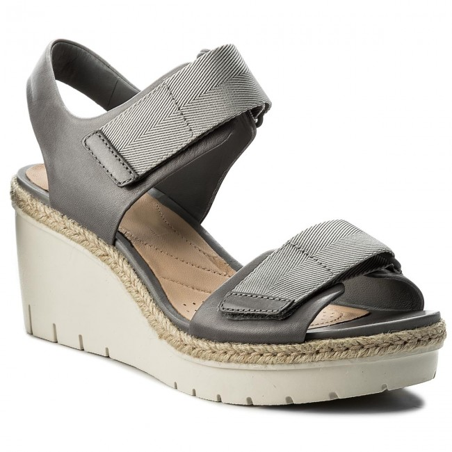 Espadrilles CLARKS                                                    Palm Shine 261338374 Grey Leather