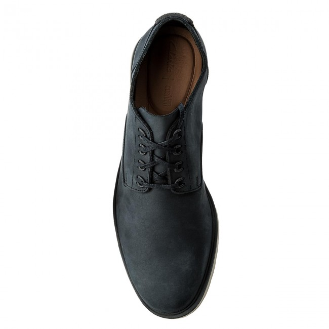 Halbschuhe CLARKS-Glaston Walk 261339047 Navy Nubuck