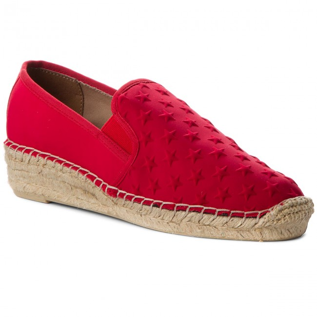 Tommy Hilfiger Damen Corporate Slip on Espadrille, Rot (Tango Red 611), 40 EU
