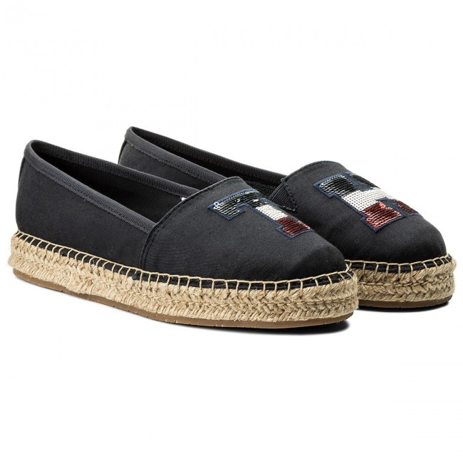 Espadrilles TOMMY HILFIGER - Th Sequins Espadrille FW0FW02412 Midnight 403