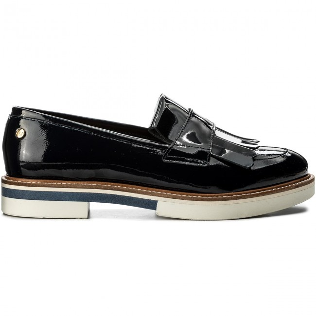 Halbschuhe TOMMY FW0FW02482 HILFIGER-Patent Fashion Loafer Fringes FW0FW02482 TOMMY Midnight 403 Werbe Schuhe 8a4e3b