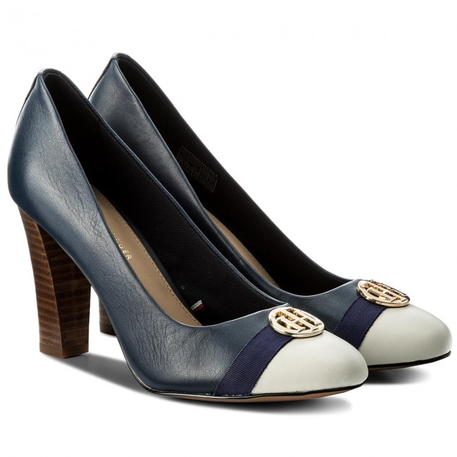 Halbschuhe TOMMY HILFIGER                                                      Pump With Hardware Decoration FW0FW02579 Tommy Navy 406 551151