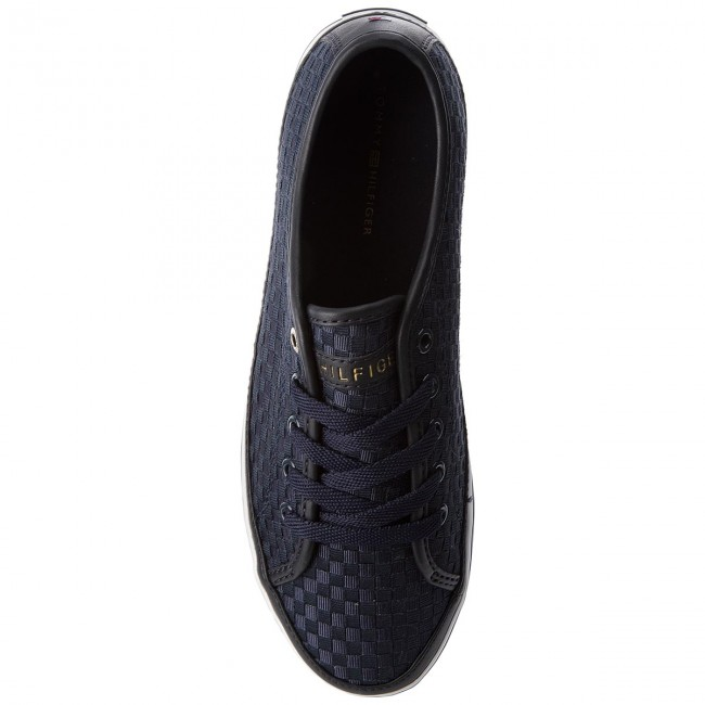 Turnschuhe TOMMY HILFIGER-Iconic Kesha Pop Color Sneaker FW0FW02671 Midnight 403 Werbe Schuhe
