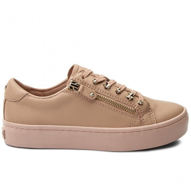 Sneakers TOMMY HILFIGER - Star Jeweld Leather Sneaker FW0FW02674 Mahogany Rose 634 jQvm5n0