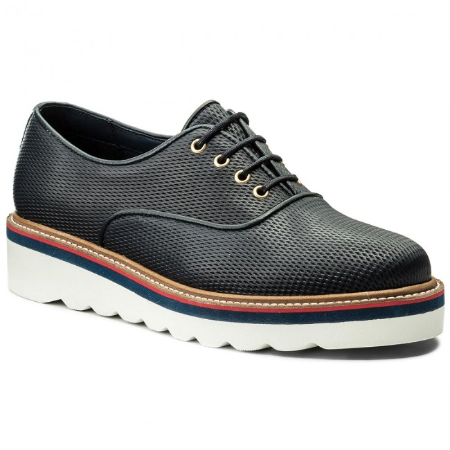 Oxfords TOMMY HILFIGER-Sporty Perf Lace Up FW0FW02725  Midnight 403 Werbe Schuhe