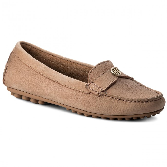 Mokassins TOMMY HILFIGER-Moccasin With With HILFIGER-Moccasin Chain Detail FW0FW02783 Silky Nude 297 Werbe Schuhe 80cf31