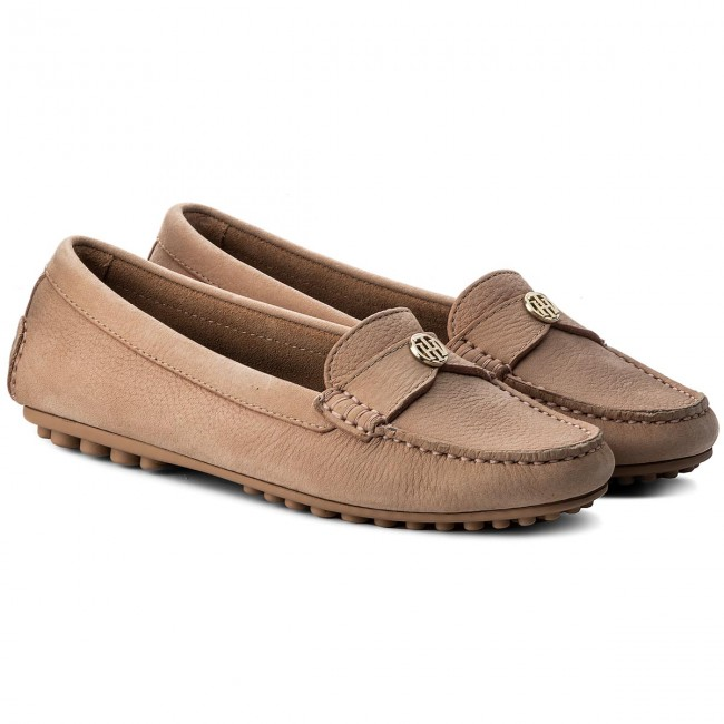 Mokassins TOMMY TOMMY Mokassins HILFIGER Moccasin With Chain Detail FW0FW02783 Silky Nude 297 12fc17