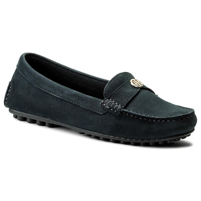 Mokassins Chain TOMMY HILFIGER-Moccasin With Chain Mokassins Detail FW0FW02783 Midnight 403 Werbe Schuhe 522396