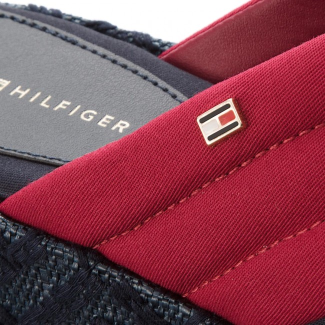 Pantoletten TOMMY HILFIGER                                                      Th Pattern Flatform FW0FW02785 Scooter ROT 614 9d0574
