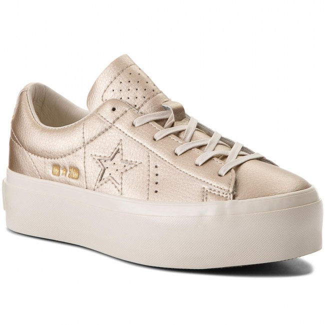 Sneakers CONVERSE                                                      One Star Platform Ox 559924C Light Gold/Light Gold/Egret f959d2