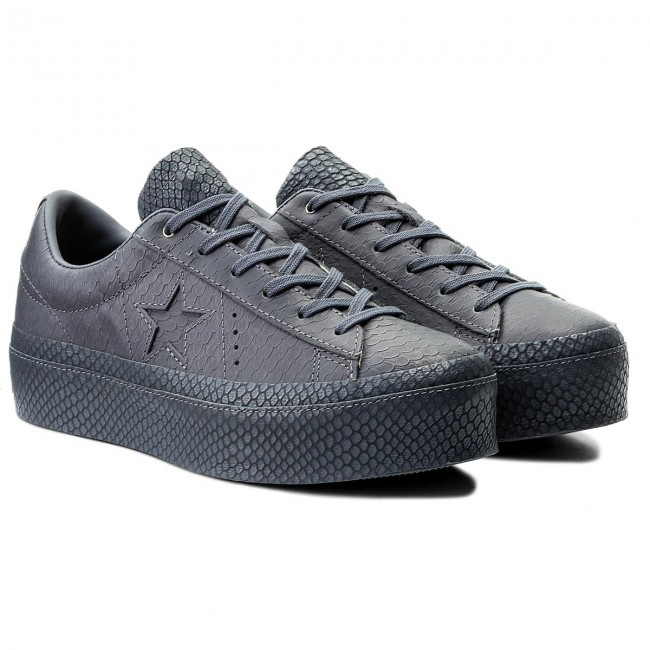 Sneakers CONVERSE                                                      One Star Platform Ox 559901C Light Carbon/Light Carbon 068ece