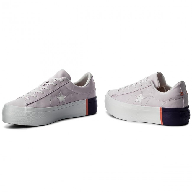 Sneakers CONVERSE                                                      One Star Platform Ox 559902C Barely Grape/Rush Coral/Weiß 567a84