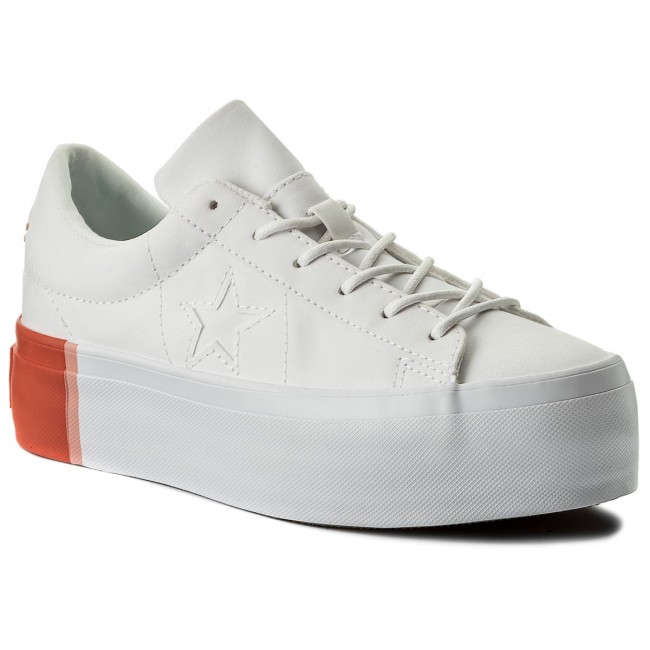 Sneakers CONVERSE One Star Platform Ox 559904C White/Bright Poppy/White