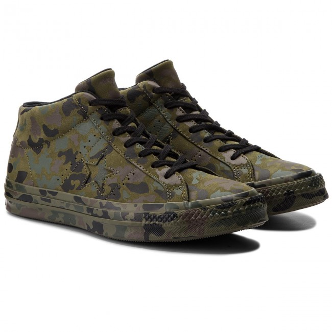Sneakers CONVERSE-One CONVERSE-One Sneakers Star Mid 159746C Herbal/Collard/schwarz 2dade0