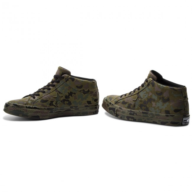 Sneakers CONVERSE-One CONVERSE-One Sneakers Star Mid 159746C Herbal/Collard/schwarz b28688