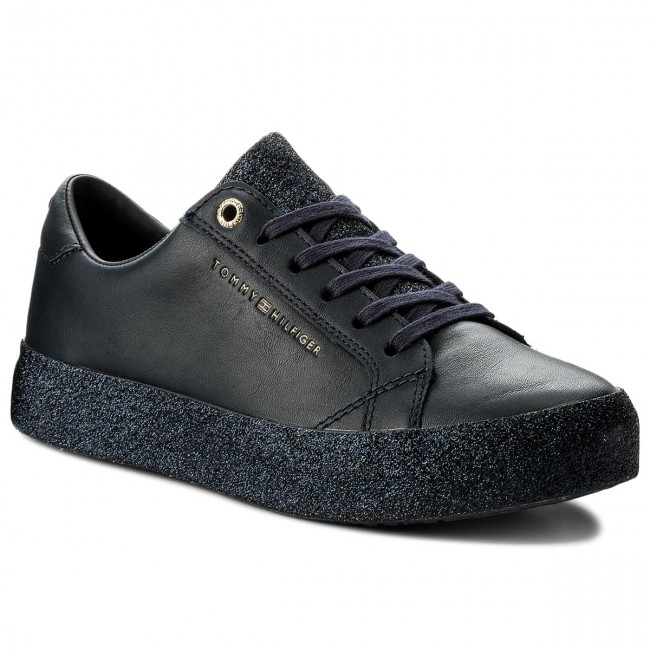 Sneakers TOMMY HILFIGER Sparkle Outsole Glitter Sneaker FW0FW02798 Midnight 403
