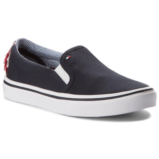 Turnschuhe TOMMY FW0FW02812 HILFIGER-Textile Light Weight Slip On FW0FW02812 TOMMY Midnight 403 Werbe Schuhe d4fd05