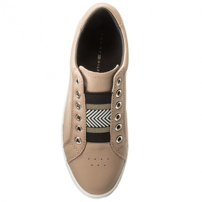 Sneakers TOMMY HILFIGER                                                      Iconic Metallic Elastic Sneaker FW0FW02828 Mahogany Rose 634 f985a1