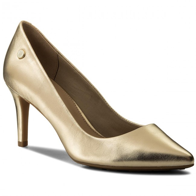 High Heels TOMMY HILFIGER                                                    Metallic Pointed Mid Heel Pump FW0FW02856 Mekong 709